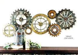 bronze antique clock with mirror face extra large wall clocks contemporary uk statement oversized