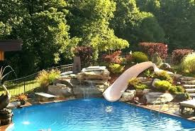 inground pools with waterslides.  With Inground Pool Slides For Sale Rock Pools  With Water Slide On Inground Pools With Waterslides
