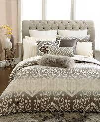 inc international concepts kali king duvet cover gray beige ikat ombre