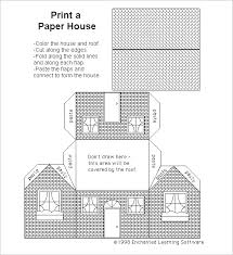 Foldable House Template 11 Paper House Templates Pdf Doc Free Premium Templates