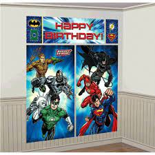 Yesterday i told you about designing some great kid's decor focal points for benson's room. Justice League Giant Scene Setter Wall Decorating Kit Superhero Birthday Party Superhero Party Favor Bags Superhero Birthday