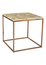 natural beige marble top copper toned