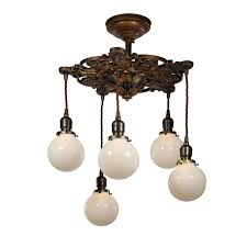 neoclassical lighting. Plain Lighting SOLD Neoclassical Semi FlushMount Chandelier With Ball Shades Antique  Lighting U2039 U203a Intended Lighting A