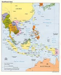 southeast asia political map   full size
