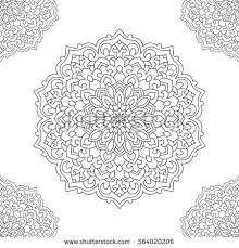 Small Picture Eastern Ethnic Mandala Round Symmetrical Ornament Stock Vector
