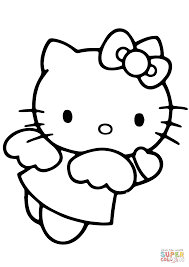 Hello Kitty Angel coloring page | Free Printable Coloring Pages