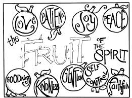 Joy Coloring Page Fruit Spirit Food School Coloring Pages