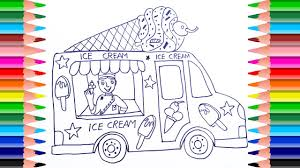 ice cream truck coloring pages.  Pages How To Draw Ice Cream Truck For Kids  Coloring Pages Art Color With  Colored Markers In E