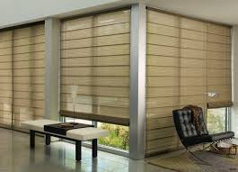 roman shades for sliding glass doors
