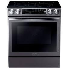 samsung black stainless stove. Delighful Black Samsung 58 Cu Ft SlideIn Electric Range With SelfCleaning Dual With Black Stainless Stove M