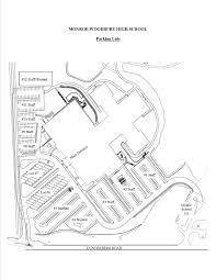 High school parking areas