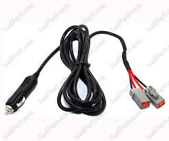 power harness cigarette plug led bars and led headlights double cigarette plug power wire harness for led bar and additional led headlamp 2 dt connectors