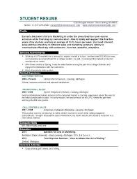 Example Resume Student Sample Resume Examples For College Students Resume Sample 90