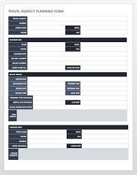 Free Itinerary Templates Smartsheet