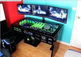 gaming computer built into desk in desk computer hostgarcia with regard to in desk computer computer