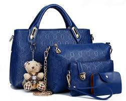 sweety girl korean leather 4 in 1 bags women fashion handbags