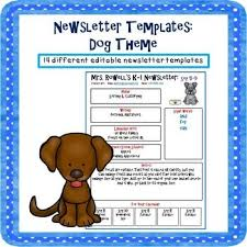 Weekly Newsletter Template Classy Editable Newsletter Template Dog Themed PAWS 48 The Dogs