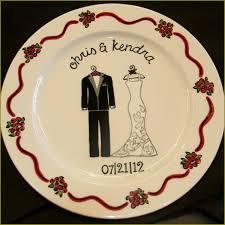 custom ceramic wedding plate painted themadpotter houston