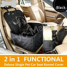 2 in 1 deluxe waterproof pet dog seat cover car front seat crate cover
