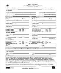 Blank Rental Application Rental Application 18 Free Word Pdf Documents Download Free Blank