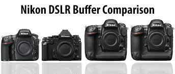 Nikon Dslr Price Comparison Chart Nikon Dslr Buffer Capacity Comparison