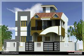 Small Picture modern house front side design india elevation design 3d Ideas