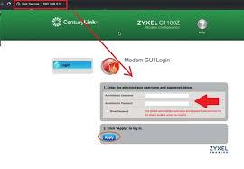 centurylink router login with default