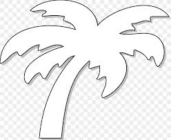 Black And White Tree Date Palm Drawing Clip Art Png
