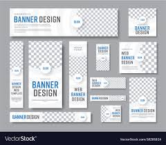 Image Size For Logo Design Design Of White Banners Of Standard Sizes With A