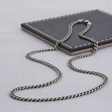 original sterling silver men s curb chain necklace