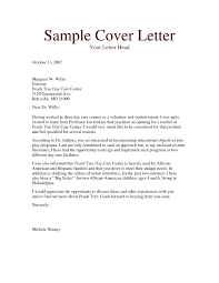 Cover Letter For Child Care The Letter Sample