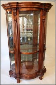 curved glass curio cabinet replacement f52 about remodel excellent home furniture ideas with curved glass curio