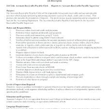 Sample Accounts Receivable Resume Simple Resume Format