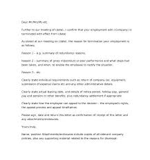Employee Termination Letter Of Employment Example To Employer Uk ...