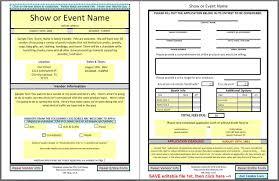Event Vendor Form Template Www Topsimages Com