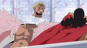 "Traffy on Twitter: ""#MomentosÉpicosDressrosa Rt- Gear 4 de Luffy Mg- Kyros  le corta la cabeza a Doflamingo https://t.co/bbBXXvd188"""