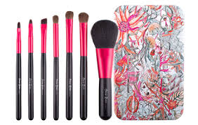 makeup brush box. cerro qreen metal box makeup brush set 7pcs [#the secret garden] - hermo online beauty shop malaysia i