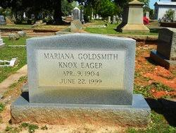 Mariana Goldsmith Eager (1904-1999) - Find A Grave Memorial