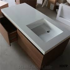 most popular best quality solid surface corian sink wall hung table top vanity freestanding pedestal undermount above counter bathroom cabinet stone surface