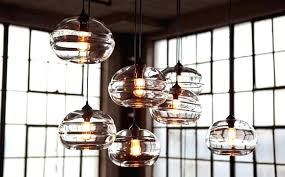 hand blown glass pendant lights reinvent your home interior with hand blown clear band pendant lights hand blown glass