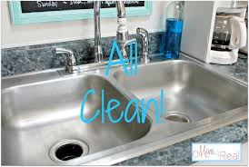 How To Clean Your Stainless Steel Kitchen Sink Mom Real Silicone Kitchen