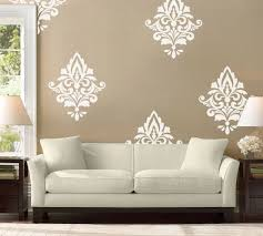 zoom on damask sticker wall art with big damask wall decal home decor damask pattern living