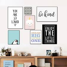 cartoon penguin lamb letters nursery canvas painting nordic animals posters wall art picture for kids room on wall art letters for nursery with cartoon penguin lamb letters nursery canvas painting nordic animals