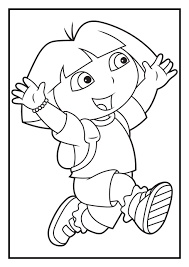 Hand Drawn Dora The Explorer Coloring