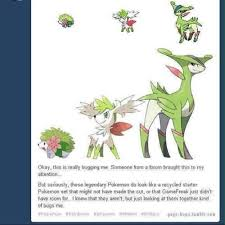 Shaymin Evolution Chart The First Two Are Shaymin Land And Shaymin Sky Formes