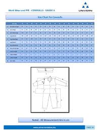 Dupont Tyvek Suit Size Chart Catalogue 2016 Univern Asia Ppe Solutions