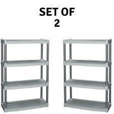 plano 5 shelf storage unit 5 shelf storage unit of 2 4 tier light taupe plastic plano 5 shelf