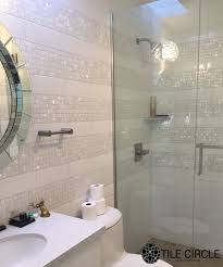 image unique bathroom. A Stunning And Unique Bathroom Tile Installation Using Mother Of Pearl Tiles From TileCircle.com Image D
