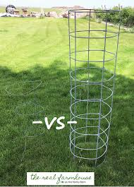 Diy tomato cage Vegetable Garden Diy Beefy Tomato Cage For Only 6 Video Tutorial And It Will Last Forever The Real Farmhouse Diy Beefy Tomato Cage For Only 6
