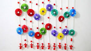 paper wall hanging ideas paper craft ideas for room decoration with paper craft decoration on wall